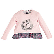 Buy Angel & Rocket Girls' Bunny Top, Pink Online at johnlewis.com
