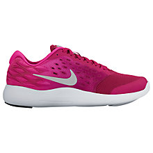 Buy Nike Children's Laced Lunarstelos GS Trainers, Pink Online at johnlewis.com