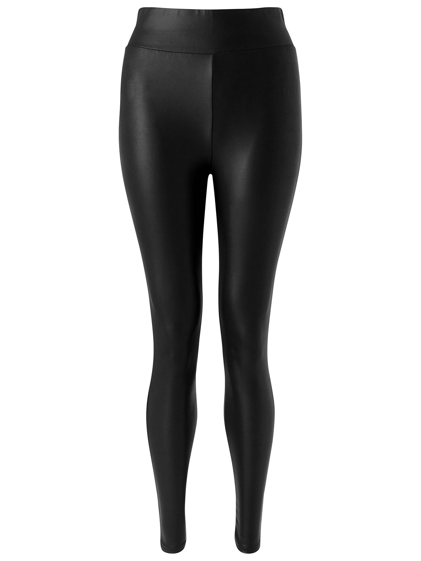 117d717b504c95 Buy Miss Selfridge Wet Look Leggings, Black, 6 Online at johnlewis.com ...