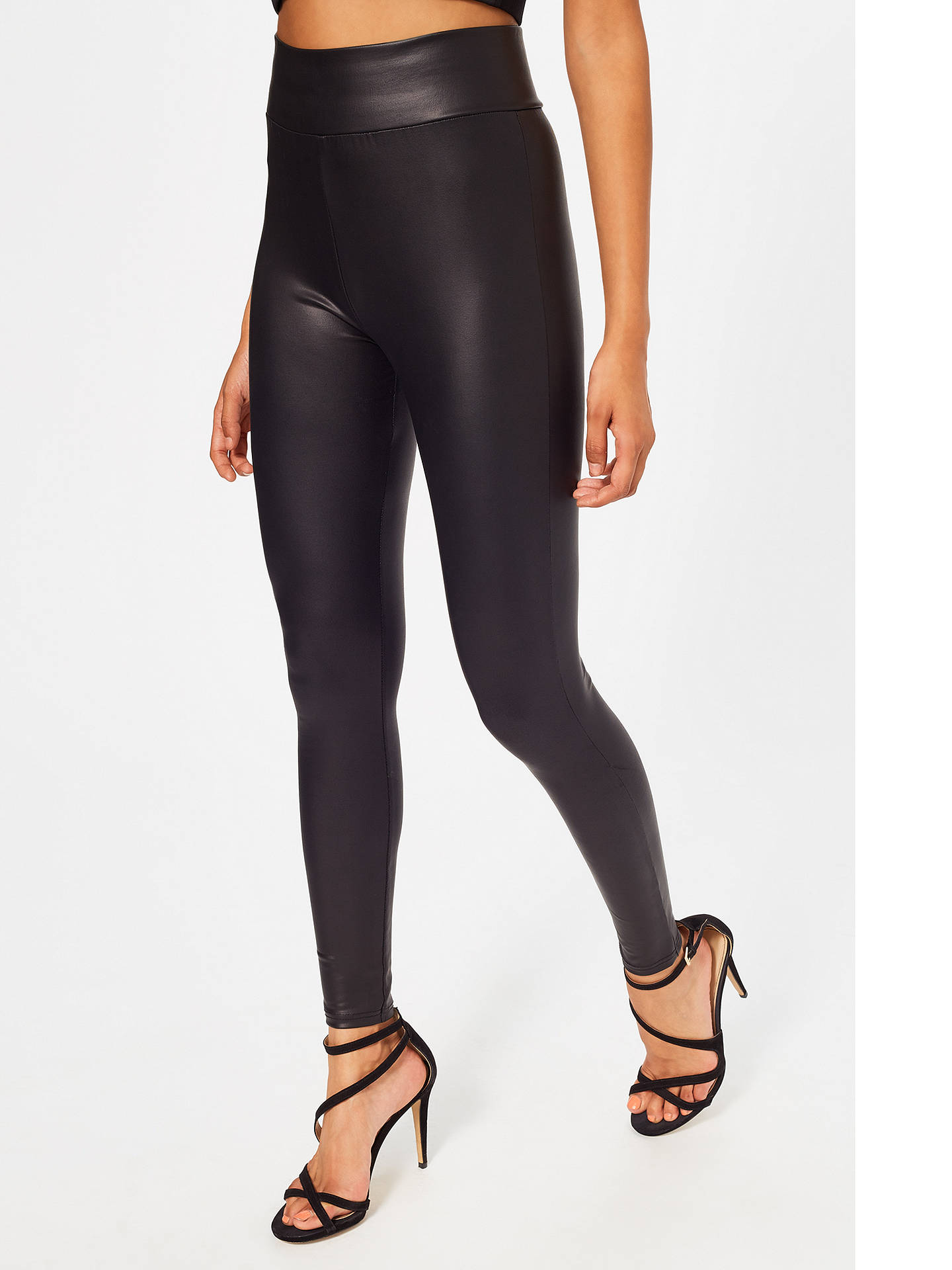 bdef37314e504d ... Buy Miss Selfridge Wet Look Leggings, Black, 6 Online at johnlewis.com  ...