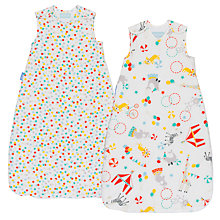 Buy Grobag Roll Up Wash and Wear Sleep Bag, 1 Tog, Pack of 2, Multi Online at johnlewis.com
