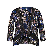 Buy Chesca Floral Print Shrug, Cobalt Online at johnlewis.com