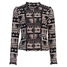 Buy French Connection Pyramid Tile Jacket, Black/Multi Online at johnlewis.com
