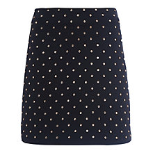 Buy French Connection Diamond Drop Jersey Mini Skirt, Black/Diamante Online at johnlewis.com