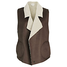 Buy French Connection Winter Rhoda Gilet, Indian Tan Online at johnlewis.com