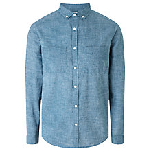 Buy Kin by John Lewis Texture Print Melange Slim Fit Shirt, Blue Online at johnlewis.com