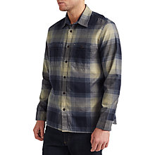 Buy JOHN LEWIS & Co. Large Ombre Check Twill Shirt, Blue/Gold Online at johnlewis.com