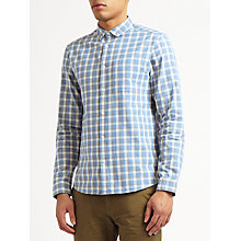 Buy Kin by John Lewis Griddle Check Long Sleeve Shirt, Blue Online at johnlewis.com