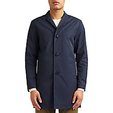 Buy Kin by John Lewis City Showerproof Overcoat, Navy Online at johnlewis.com