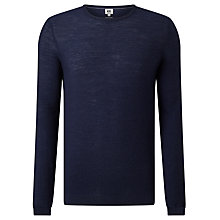 Buy Kin by John Lewis Seed Stitch Merino Jumper, Navy Online at johnlewis.com