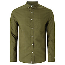Buy Kin by John Lewis Fine Check Shirt, Khaki Online at johnlewis.com