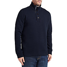 Buy John Lewis Weekend Button Neck Sweatshirt, Navy Online at johnlewis.com