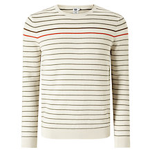 Buy Kin by John Lewis Retro Stripe Cotton Jumper, Ecru Online at johnlewis.com