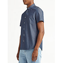 Buy Kin by John Lewis Dobby Chambray Short Sleeve Shirt, Indigo Online at johnlewis.com