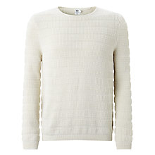 Buy Kin by John Lewis Texture Stitch Stripe Jumper, Off White Online at johnlewis.com