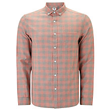 Buy Kin by John Lewis Griddle Check Long Sleeve Shirt, Orange Online at johnlewis.com