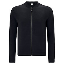 Buy Kin by John Lewis Plated Cotton Bomber Jacket, Black Online at johnlewis.com