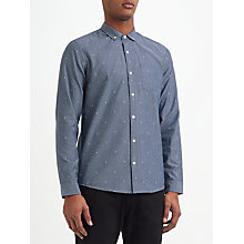 Buy Kin by John Lewis Chambray Dobby Shirt, Blue Online at johnlewis.com