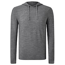 Buy Kin by John Lewis Seed Stitch Merino Hoodie, Grey Melange Online at johnlewis.com