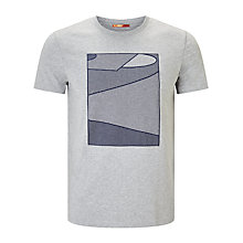 Buy Kin by John Lewis Flock Tennis Dot Graphic T-Shirt, Grey Online at johnlewis.com