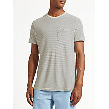 Buy Kin by John Lewis Linen Cotton Stripe T-Shirt, Stone Online at johnlewis.com