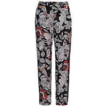 Buy French Connection Arabella Rose Drape Jogger, Black Multi Online at johnlewis.com