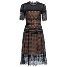 Buy French Connection Anouk Lace Dress, Black Online at johnlewis.com