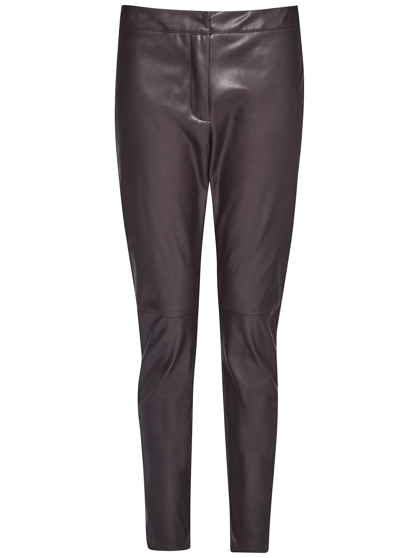 077a50585d7 Buy French Connection Atlantic Faux Leather Trousers, Black Coffee, 6  Online at johnlewis.
