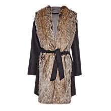 Buy French Connection Cotswolds Coating Oversized Coat, Grey Online at johnlewis.com