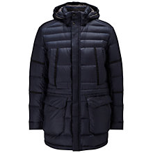 Buy BOSS Green C-Canos Down Parka Coat, Navy Online at johnlewis.com