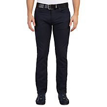 Buy BOSS Green C-Delaware Birdseye Slim Fit Jeans, Navy Online at johnlewis.com