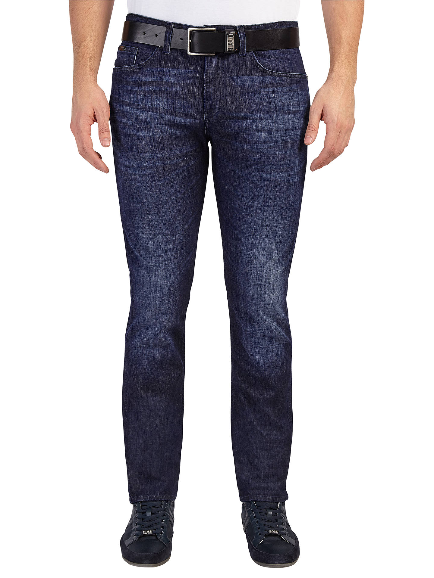 unequal in performance search for authentic official site BOSS Green Slim Fit C-Delaware Jeans, Medium Blue at John ...