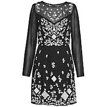 Buy French Connection Midnight Garden Maxi Dress, Black/Winter White Online at johnlewis.com