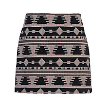 Buy French Connection Pyramid Tile Mini Skirt, Black/Multi Online at johnlewis.com