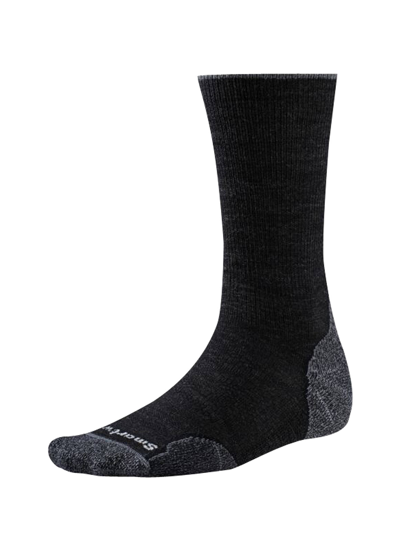 BuySmartWool PhD Outdoor Light Crew Socks, Charcoal, M Online at johnlewis.com