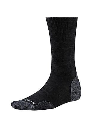 SmartWool PhD Outdoor Light Crew Socks, Charcoal