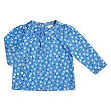 Buy John Lewis Baby Floral Print Blouse, Blue Online at johnlewis.com