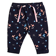 Buy John Lewis Baby Floral Bird Print Joggers, Blue/Multi Online at johnlewis.com