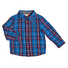 Buy John Lewis Baby Check Shirt, Blue/Red Online at johnlewis.com