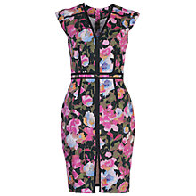 Buy French Connection Adeline Dream Cotton Dress, Calypso Coral/Multi Online at johnlewis.com