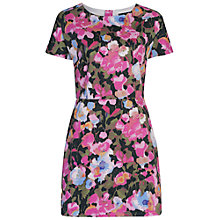 Buy French Connection Adeline Dream Floral Print Dress, Calypso/Coral Multi Online at johnlewis.com