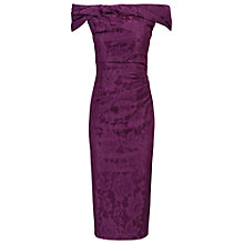 Buy Jolie Moi Bardot Neckline Shift Dress, Purple Online at johnlewis.com