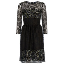 Buy French Connection Molly Lace Mini Dress, Khaki Online at johnlewis.com
