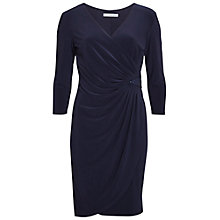 Buy Gina Bacconi Jersey Wrap Dress With Sequin Insert, Spring Navy Online at johnlewis.com