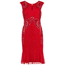 Buy Gina Bacconi Beaded Dress With Frill Hem Online at johnlewis.com