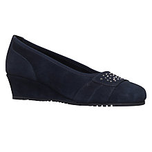 Buy Carvela Comfort Allie Wedge Heeled Court Shoes Online at johnlewis.com