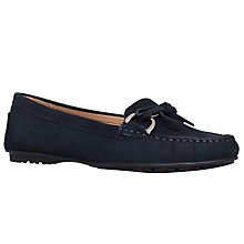 Buy Carvela Comfort Cayla Flat Loafers, Navy Nubuck Online at johnlewis.com