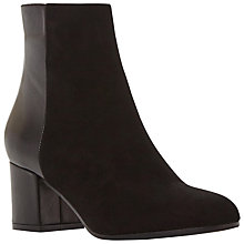 Buy Dune Black Orsen Classic Block Heeled Ankle Boots, Black Online at johnlewis.com