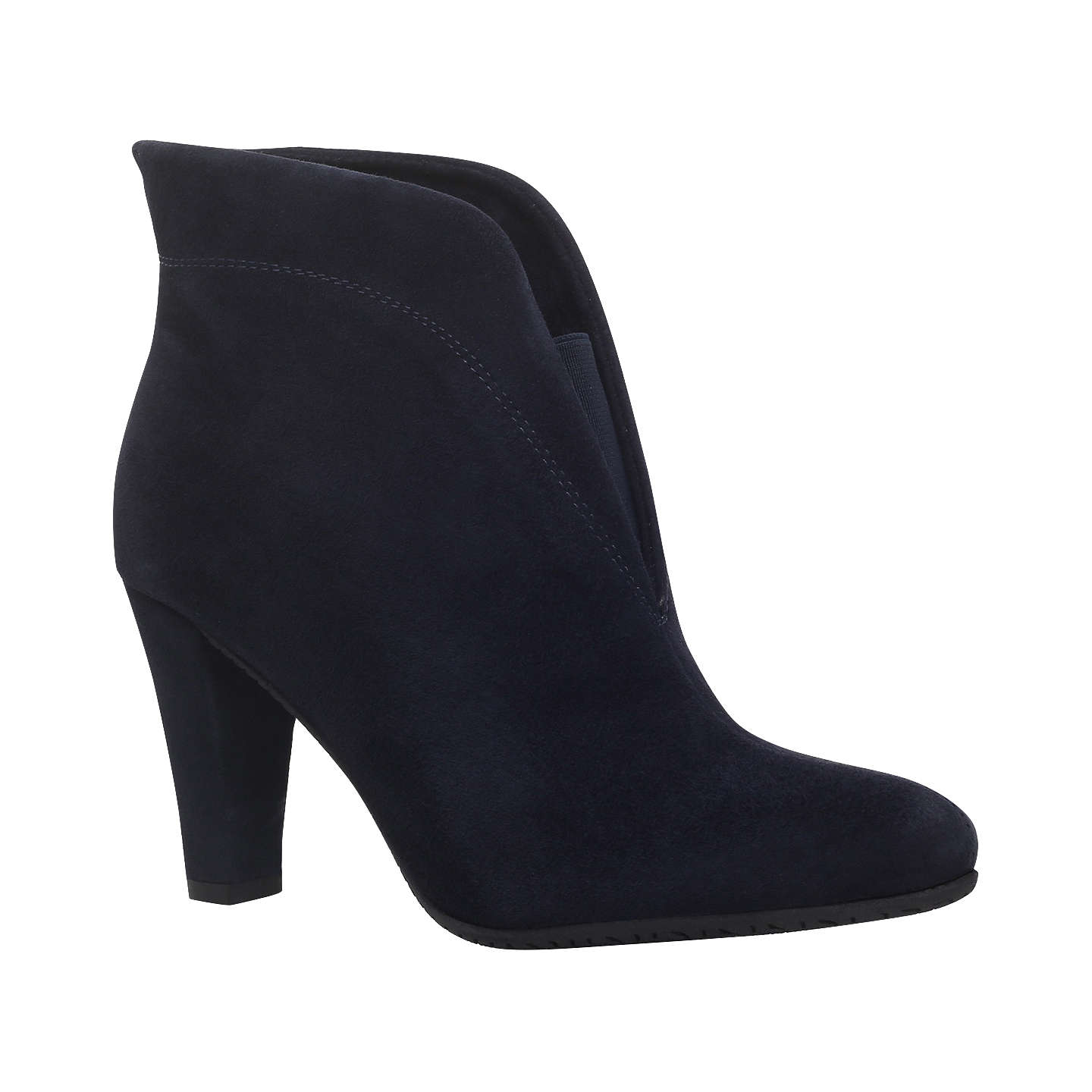 BuyCarvela Comfort Rida Cut Out Ankle Boots, Navy, 8 Online at  johnlewis.com ...