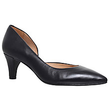 Buy Carvela Comfort Amy Court Shoes, Black Leather Online at johnlewis.com